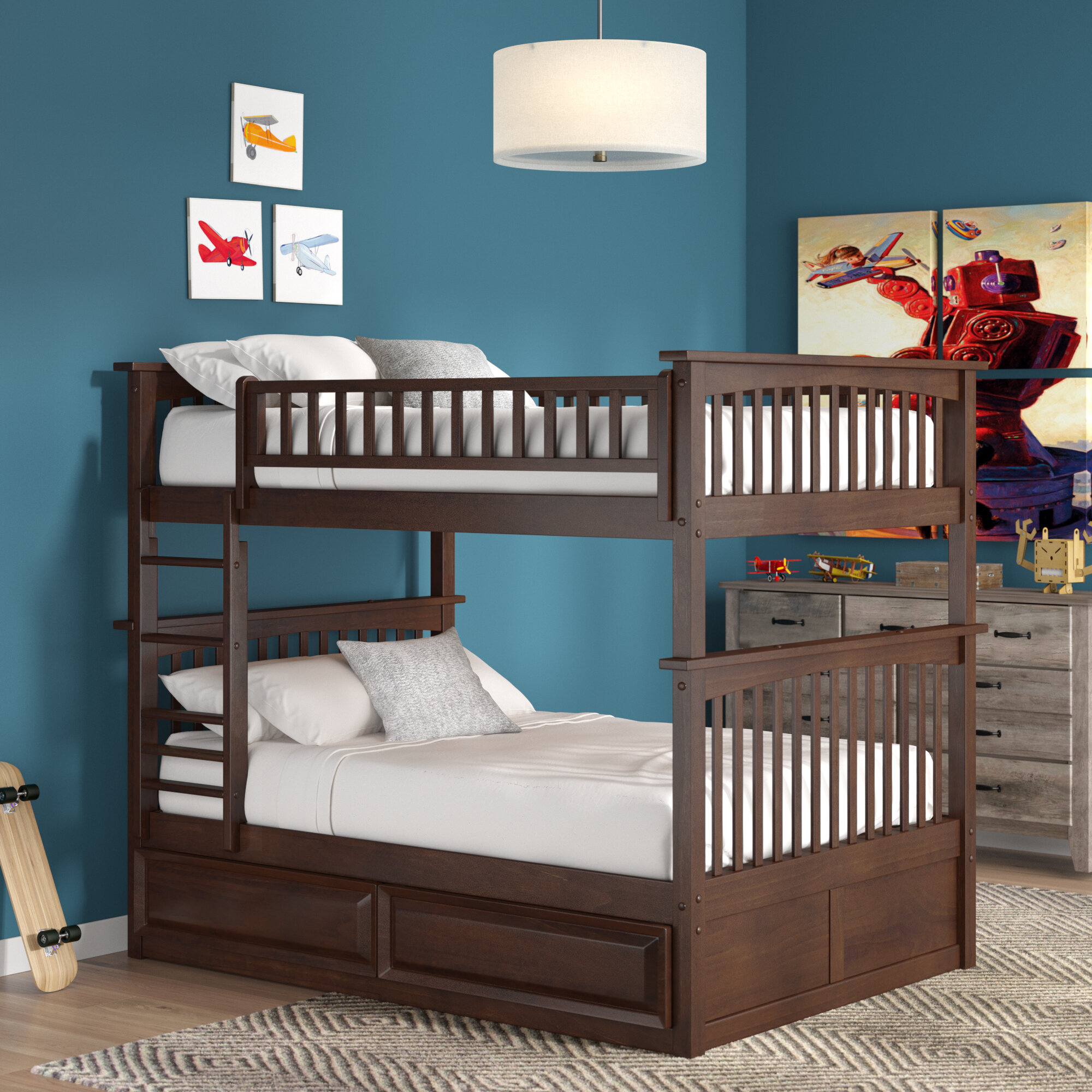Viv + Rae Henry Bunk Bed With Trundle U0026 Reviews | Wayfair
