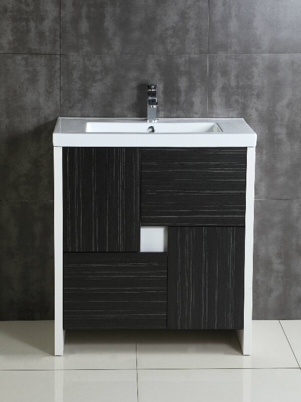 Fine Fixtures Midland Single Bathroom Vanity Set Reviews Wayfair - Bathroom vanities pompano beach fl