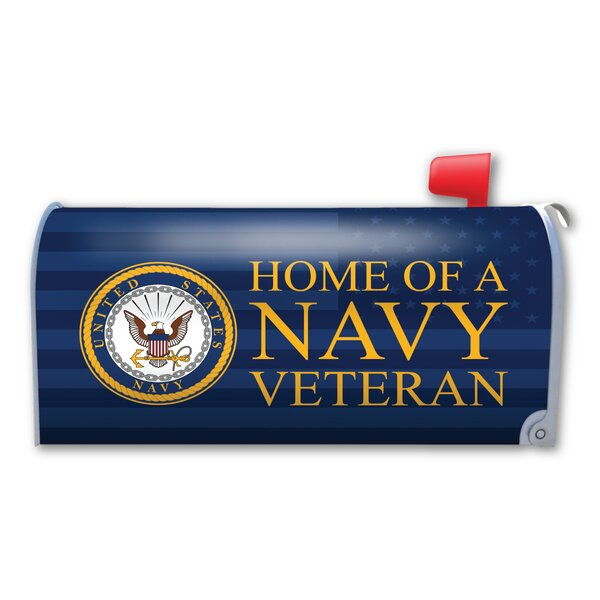 Home of a Navy Veteran Magnetic Mailbox Cover by Magnet America