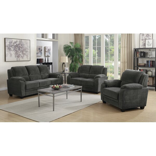 Creamer 3 Piece Living Room Set by Red Barrel Studio
