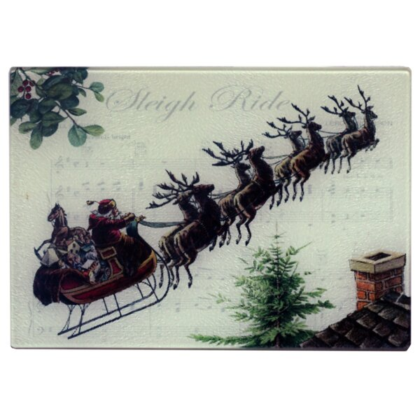 Dubose Santa and Sleigh Bells Cheese Board by The Holiday Aisle
