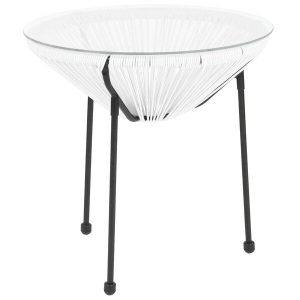 Kelleia Glass Side Table by Wrought Studio