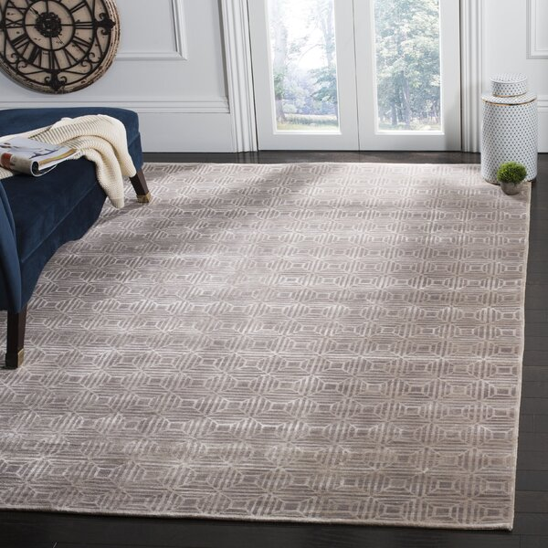 Darrow Hand-Knotted Camel Area Rug by Brayden Studio