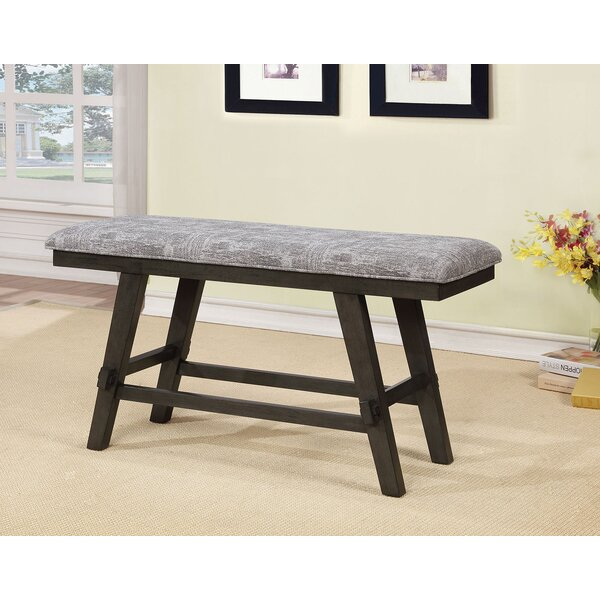 Saunderstown Wood Bench by Gracie Oaks