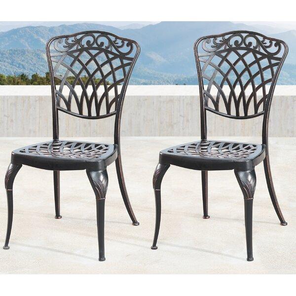 Gena Mesh Lattice Patio Dining Chair (Set of 2) by Fleur De Lis Living Fleur De Lis Living