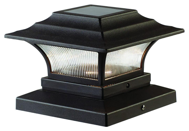 Deckimpressions Bronze Solar Powered Integrated Led Fence Post Cap Pack Wayfair