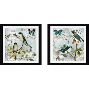 'Garden' Framed Graphic Art Set (Set of 2) by Lark Manor