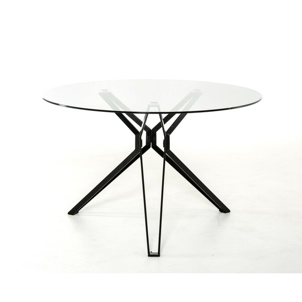 Clower Tempered Glass Top Dining Table by Orren Ellis