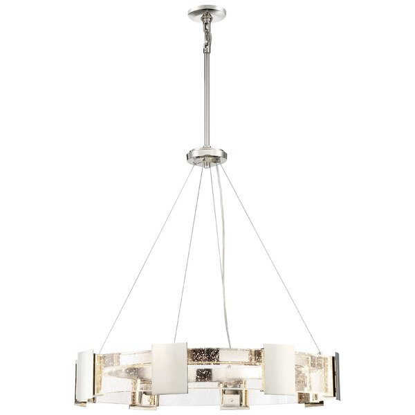 Stellaris 8 - Light Unique / Statement Wagon Wheel Chandelier By Metropolitan By Minka