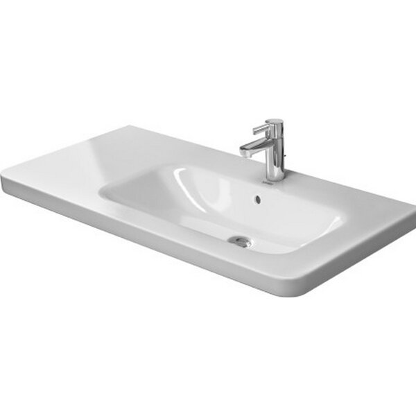 DuraStyle Ceramic 40 Wall Mount Bathroom Sink with Overflow by Duravit