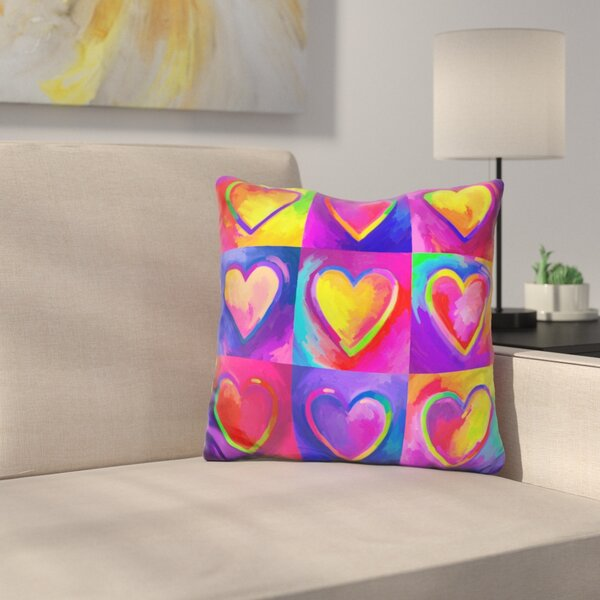 Heart Throw Pillow by East Urban Home