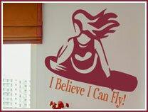 Snowboarder Girl Wall Decal by Alphabet Garden Designs
