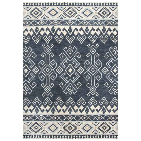 Lissie Hand-Tufted Wool Denim Area Rug by Bungalow Rose