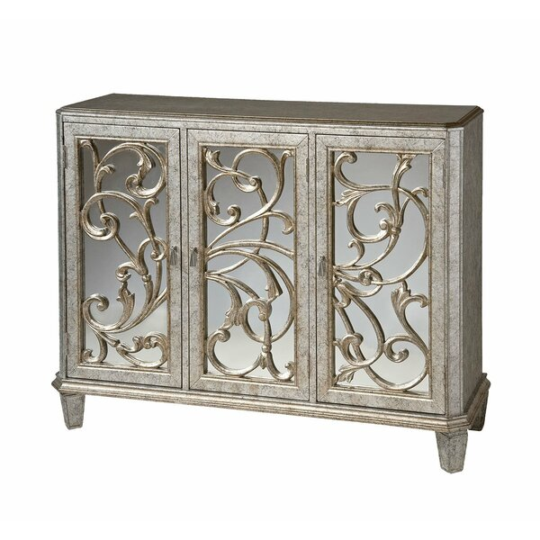 Lilia 3 Door Mirrored Accent Cabinet by House of Hampton House of Hampton