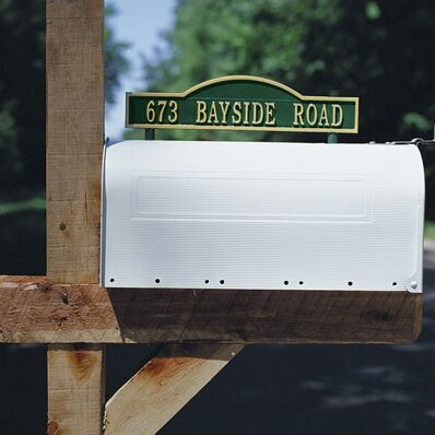Two Sided Mailbox Address Arch Marker by Whitehall