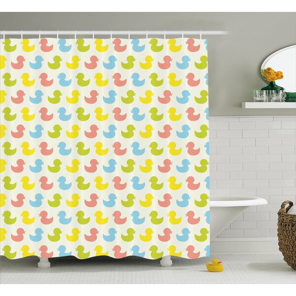 Jaleel Duck Colorful Baby Art Shower Curtain by Harriet Bee