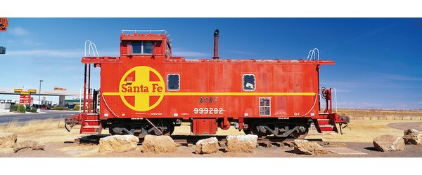 Atchison-Topeka-Santa Fe Railway (ATSF) Caboose, Visitors Center Display, Winslow, Navajo Nation, Arizona, USA Photographic Print on Wrapped Canvas by East Urban Home