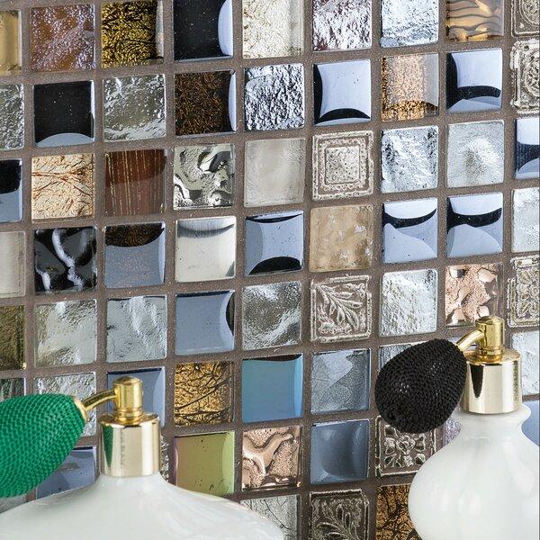 1 x 1 Glass Mosaic Tile in Marsala by Splashback Tile