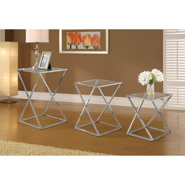 Voegele 3 Piece Coffee Table Set by Orren Ellis