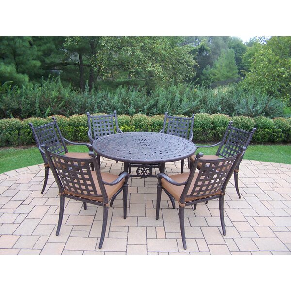 Vandyne 7 Piece Round Dining Set With Cushions By Darby Home Co