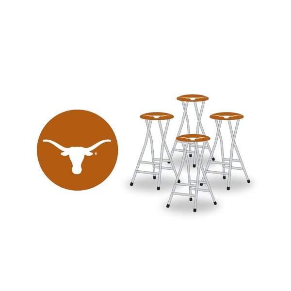 NCAA 30-inch Patio Bar Stool with Cushion (Set of 4) by Best of Times Best of Times