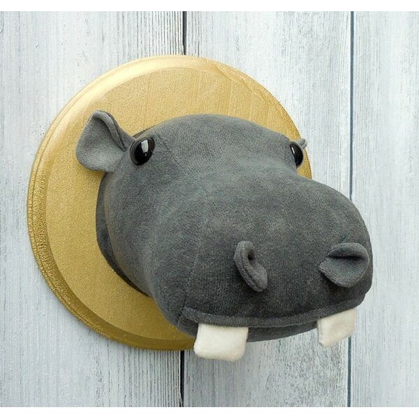 Hippo Faux Taxidermy 3D Wall Décor by Zooguu