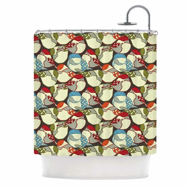 Chickadees by Amy Reber Shower Curtain by East Urban Home
