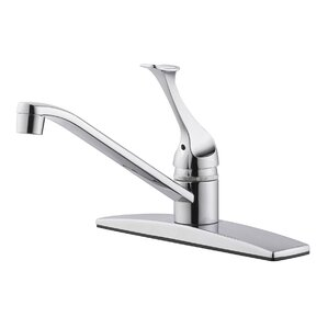 Design House Millbridge Single Handle Single Hole Kitchen Faucet with Side Spray