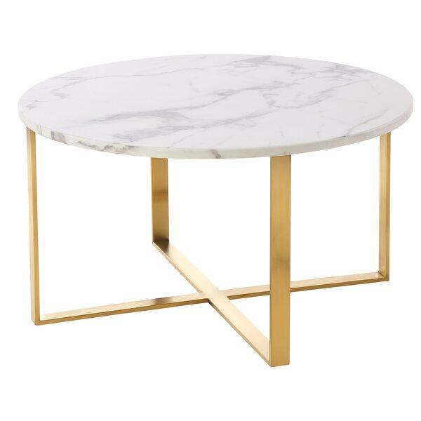 Fecteau Cross Legs Coffee Table By Everly Quinn