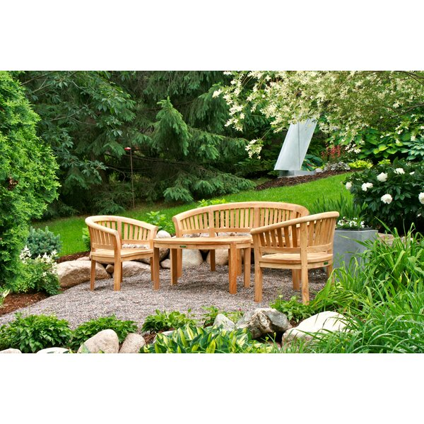 Bourdeau 4 Piece Teak Sofa Seating Group by Freeport Park