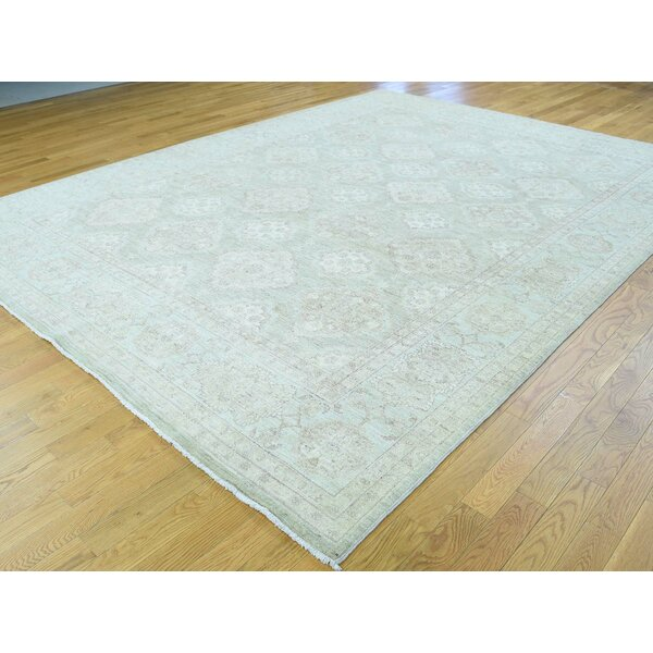 One-of-a-Kind Beaumont Handwoven Green Wool Area Rug by Isabelline