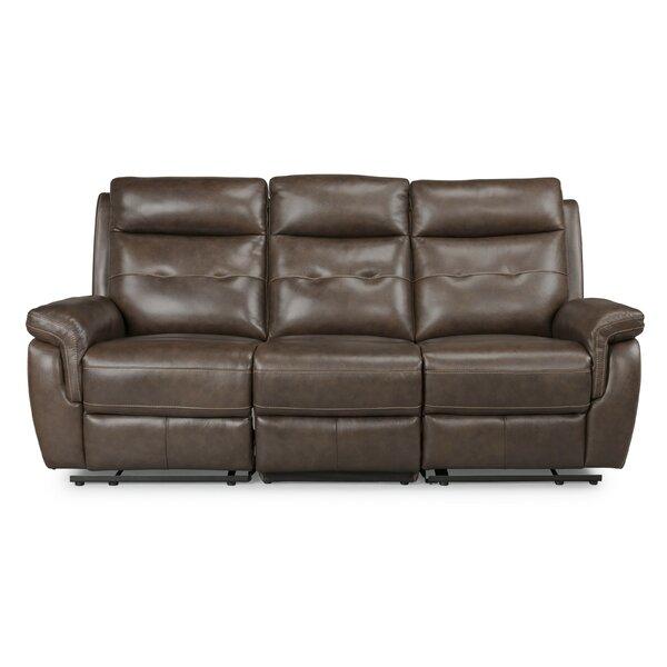 Sasheer Leather Reclining Sofa By Latitude Run