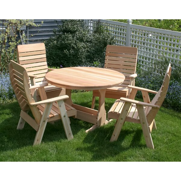 Frawley 5 Piece Dining Set by August Grove