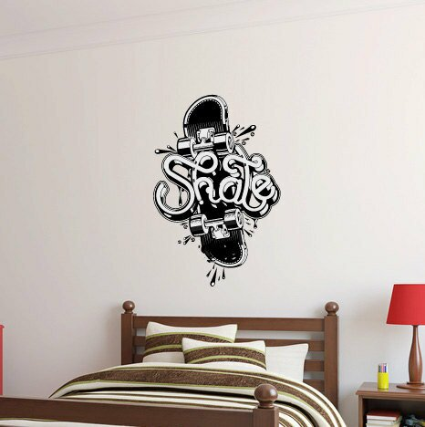 Tommy Skateboard Wall Decal by Zoomie Kids