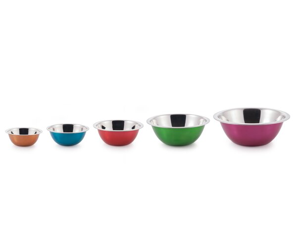 5-Piece Stainless Steel Bowl Set by McSunley