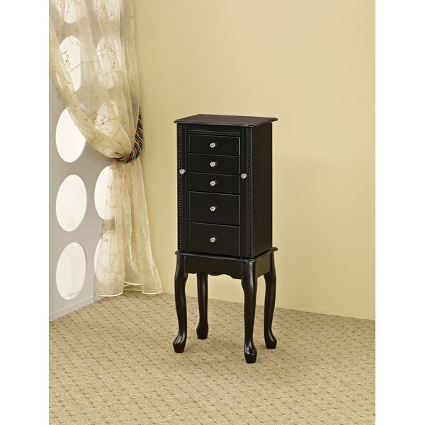 Plummer Classic Free Standing Jewelry Armoire with Mirror by Canora Grey Canora Grey