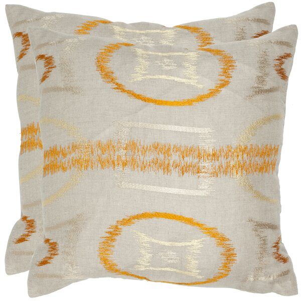Reese Linen Throw Pillow (Set of 2) by Safavieh
