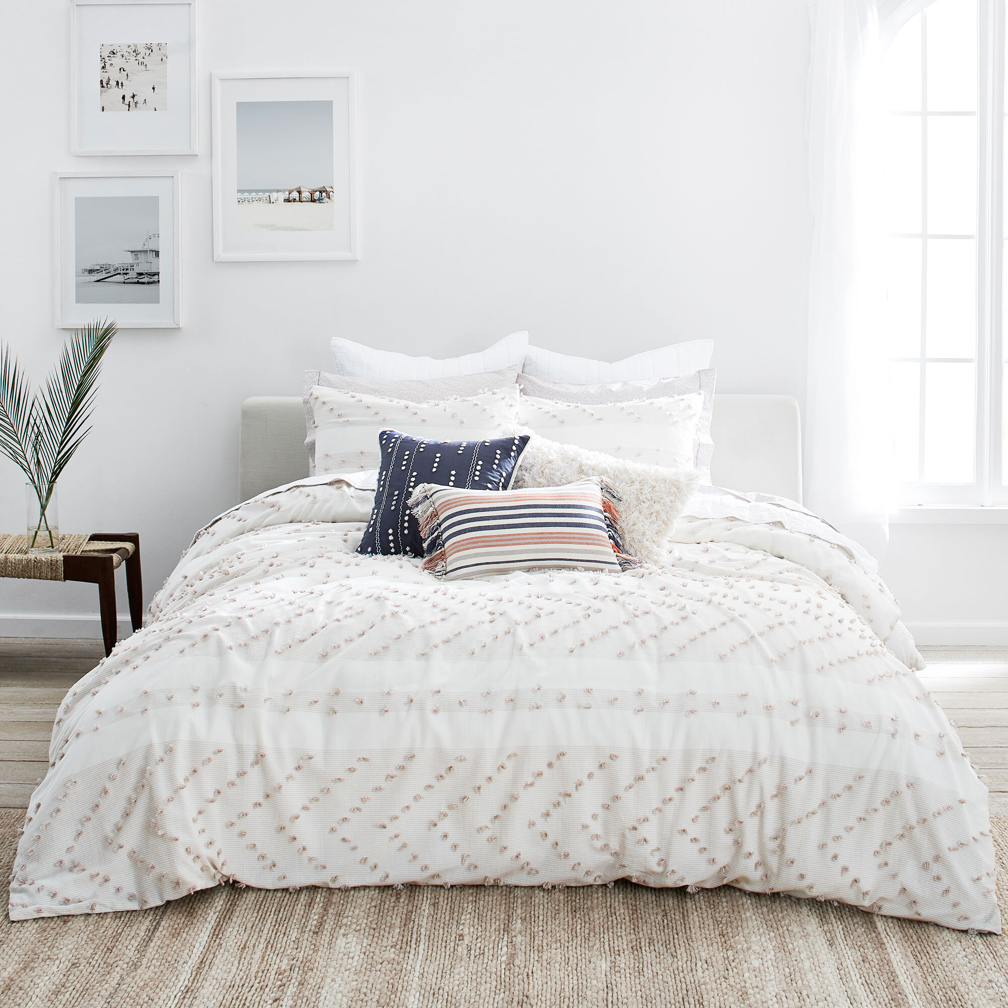 Home Classics Solid Cotton Bedspread Mary NEW