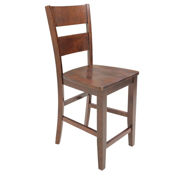 Dinsmore Curved Back Solid Wood Dining Chair (Set of 2) by Latitude Run