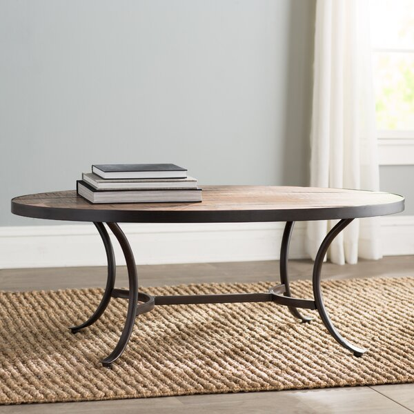 Mercury row ceres oval coffee table reviews wayfair for Wayfair oval coffee table