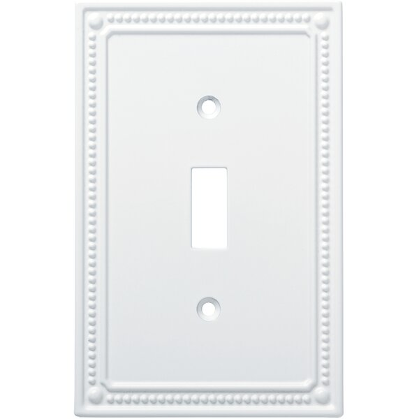 Classic Beaded Single Switch Wall Plate by Franklin Brass