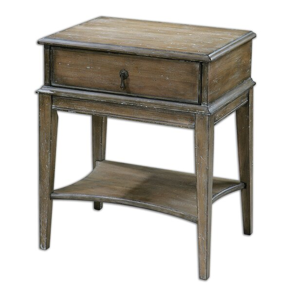 Dustin End Table with Storage by August Grove