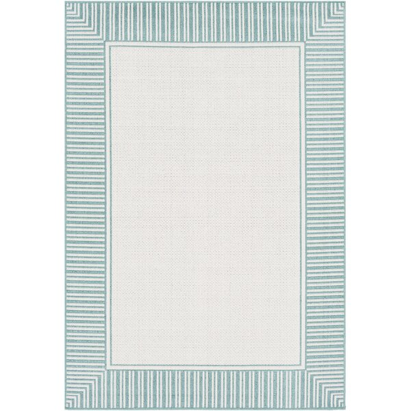 Oliver Teal Indoor/Outdoor Area Rug by Bay Isle Home