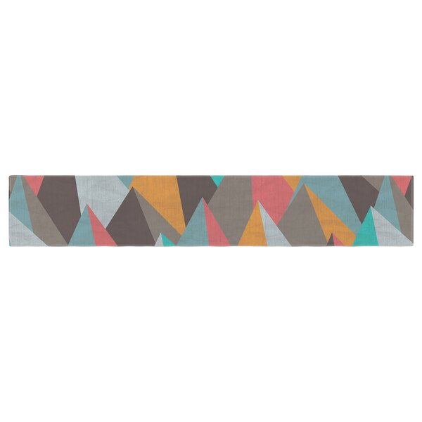 Michelle Drew Mountain Peaks I Table Runner by East Urban Home