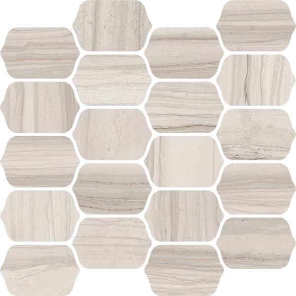 Burano 12 x 13 Ceramic Mosaic Tile in Bianco Valetta by Interceramic