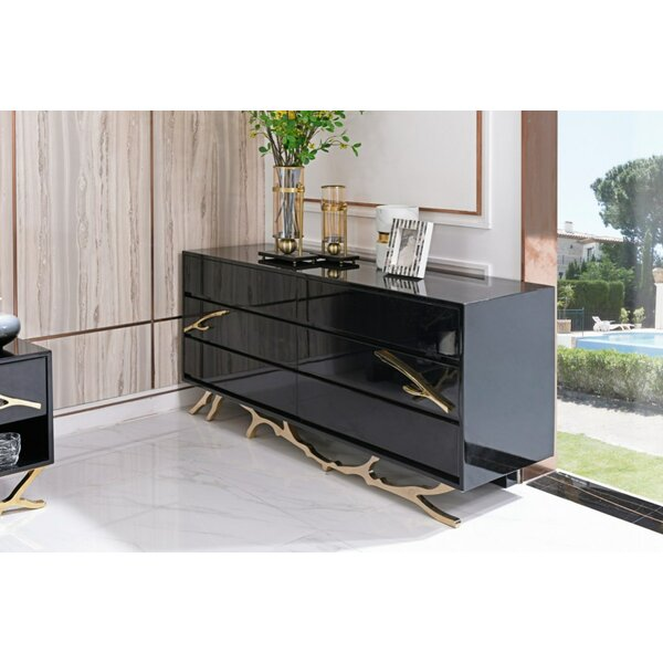 Frisina Modern 6 Drawer Double Dresser by Everly Quinn