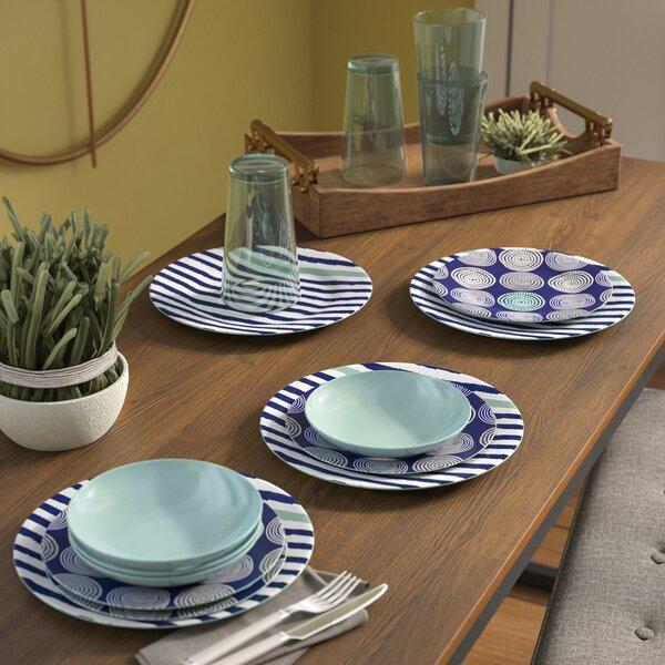 Ingrassia 16 Piece Melamine Dinnerware Set, Service for 4 by Latitude Run