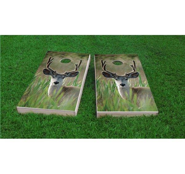 Mule Deer in Wetlands Cornhole Game Set by Custom Cornhole Boards