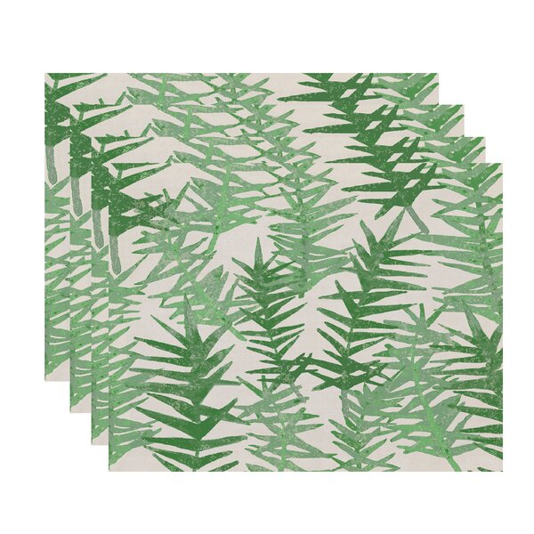 Willems Spikey Floral Print Placemat (Set of 4) by Latitude Run