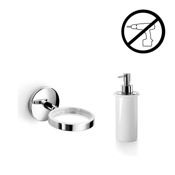 Noanta Self-Adhesive Soap Dispenser by WS Bath Collections